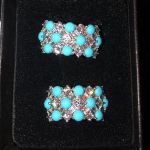 ❤️ JEAN DOUSSET TURQUOISE ABSOLUTE EARRINGS